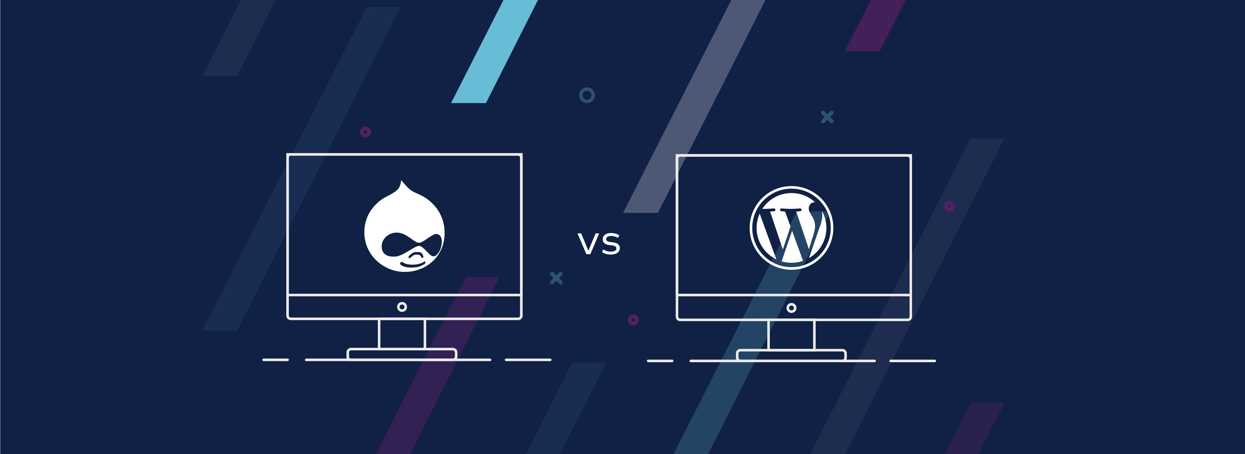 Header of Comparing Drupal and WordPress