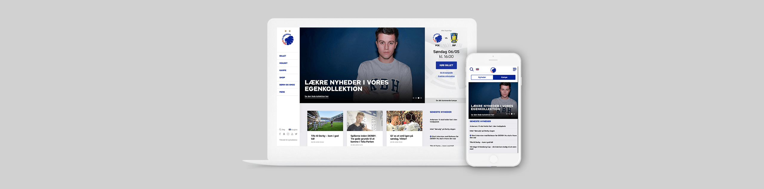 Header of F.C. Copenhagen switched to Drupal 8 blog