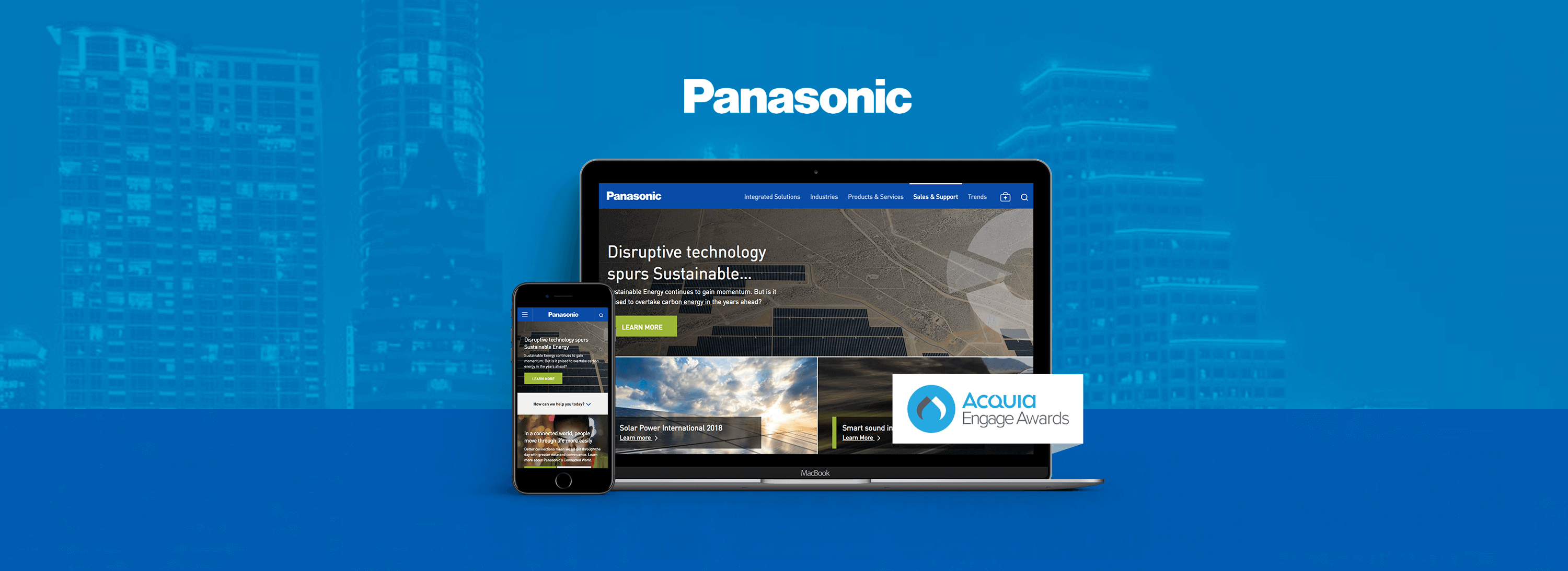Header of Panasonic Acquia Engage blog