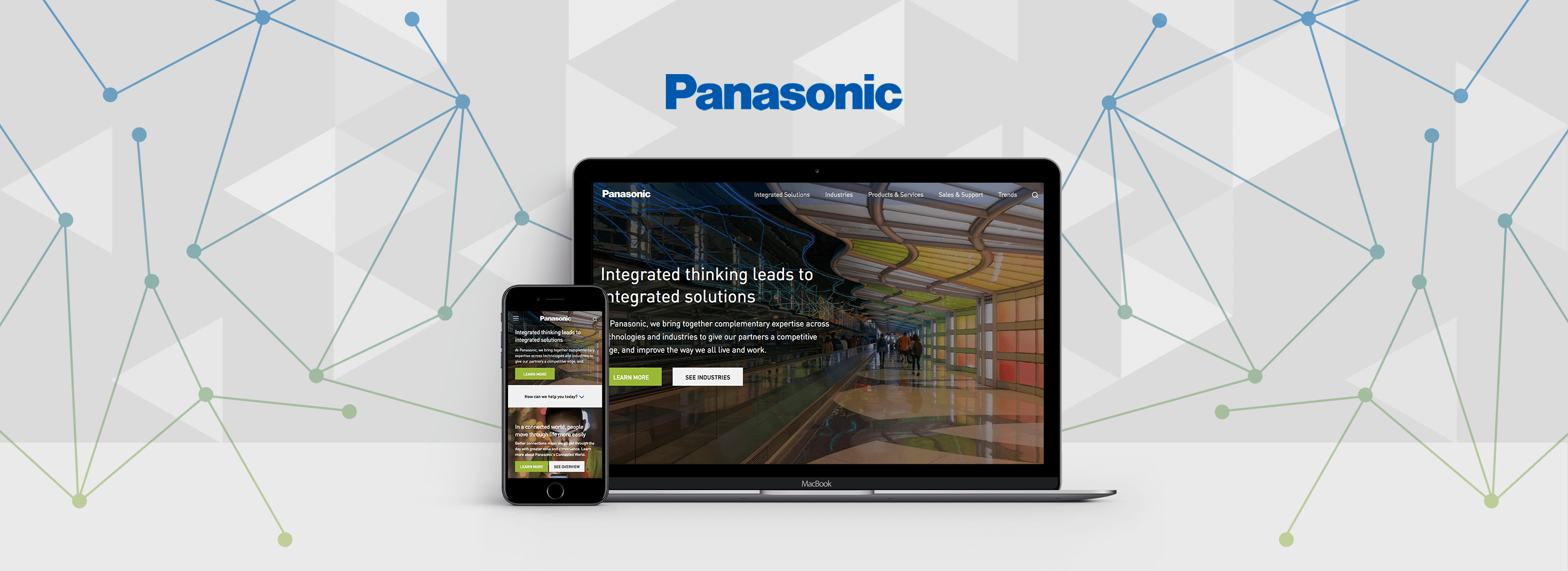 Header of Panasonic for an Acquia webinar blog