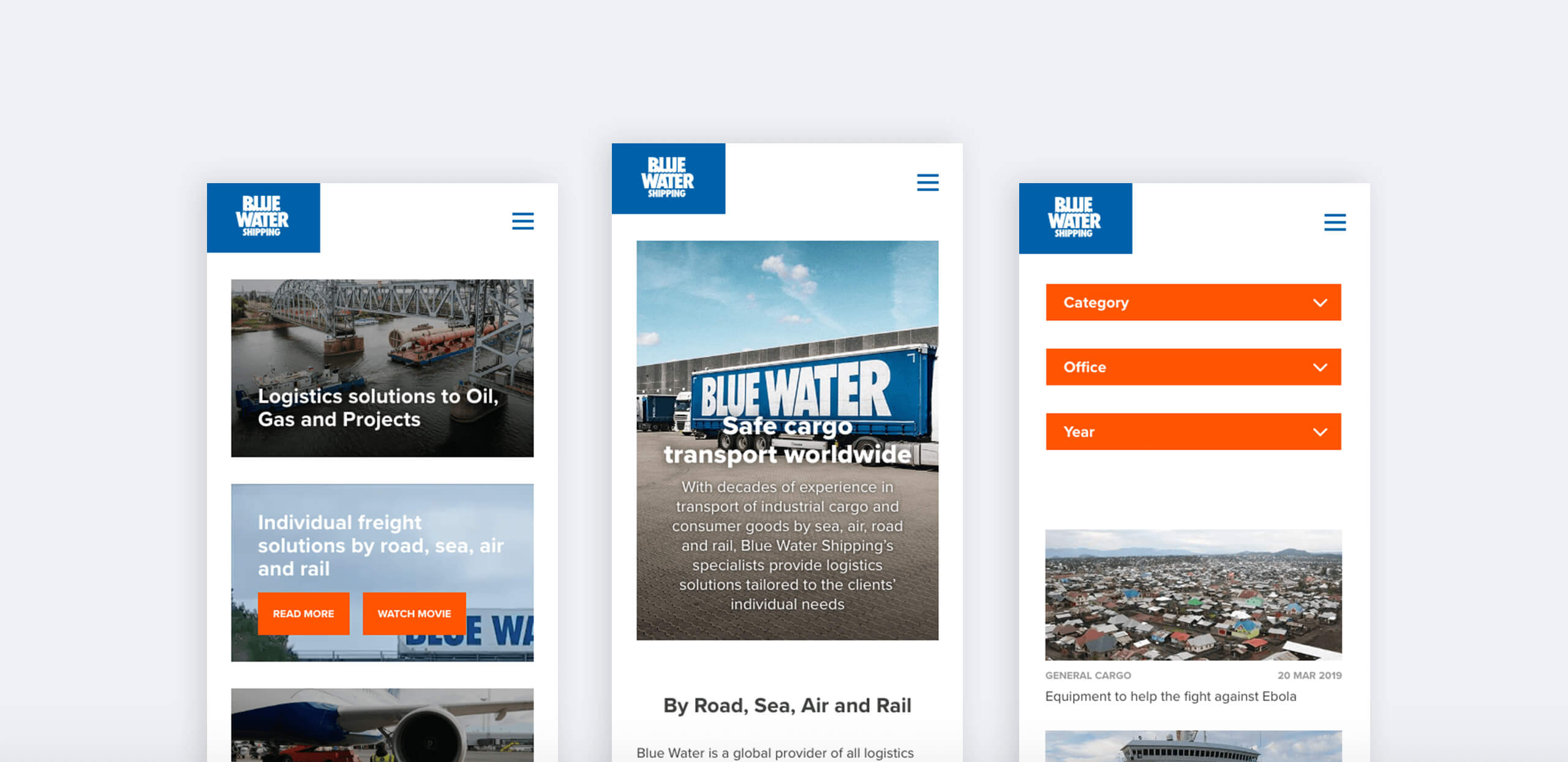 Image of Blue Water mobile design