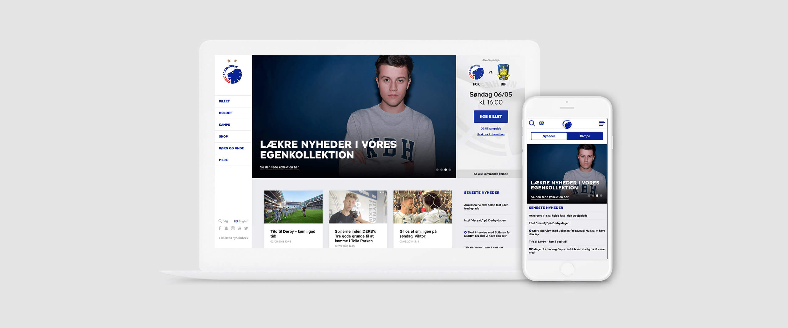 Image of F.C.Copenhagen home page