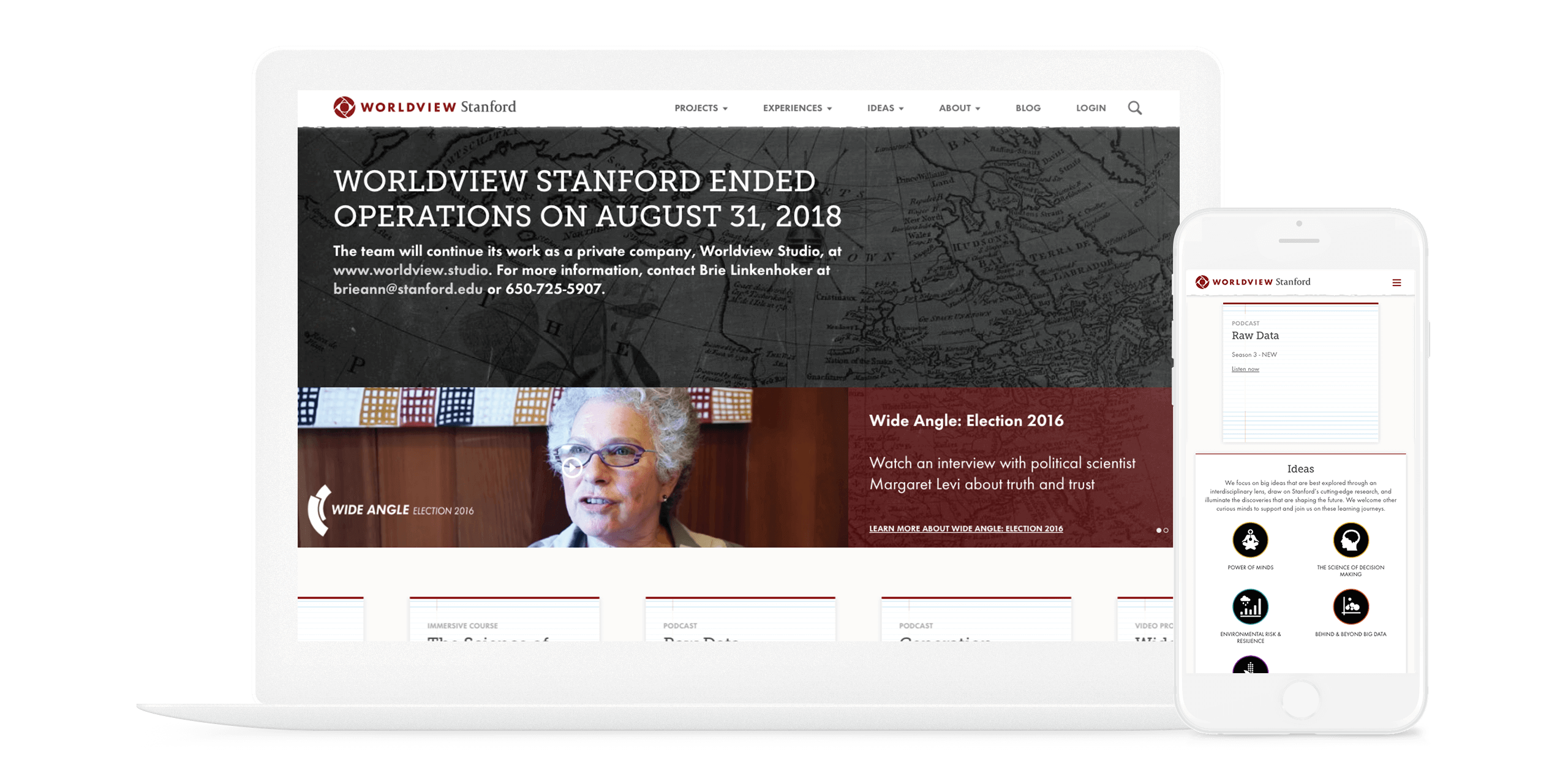 Image of Worldview Stanford home page