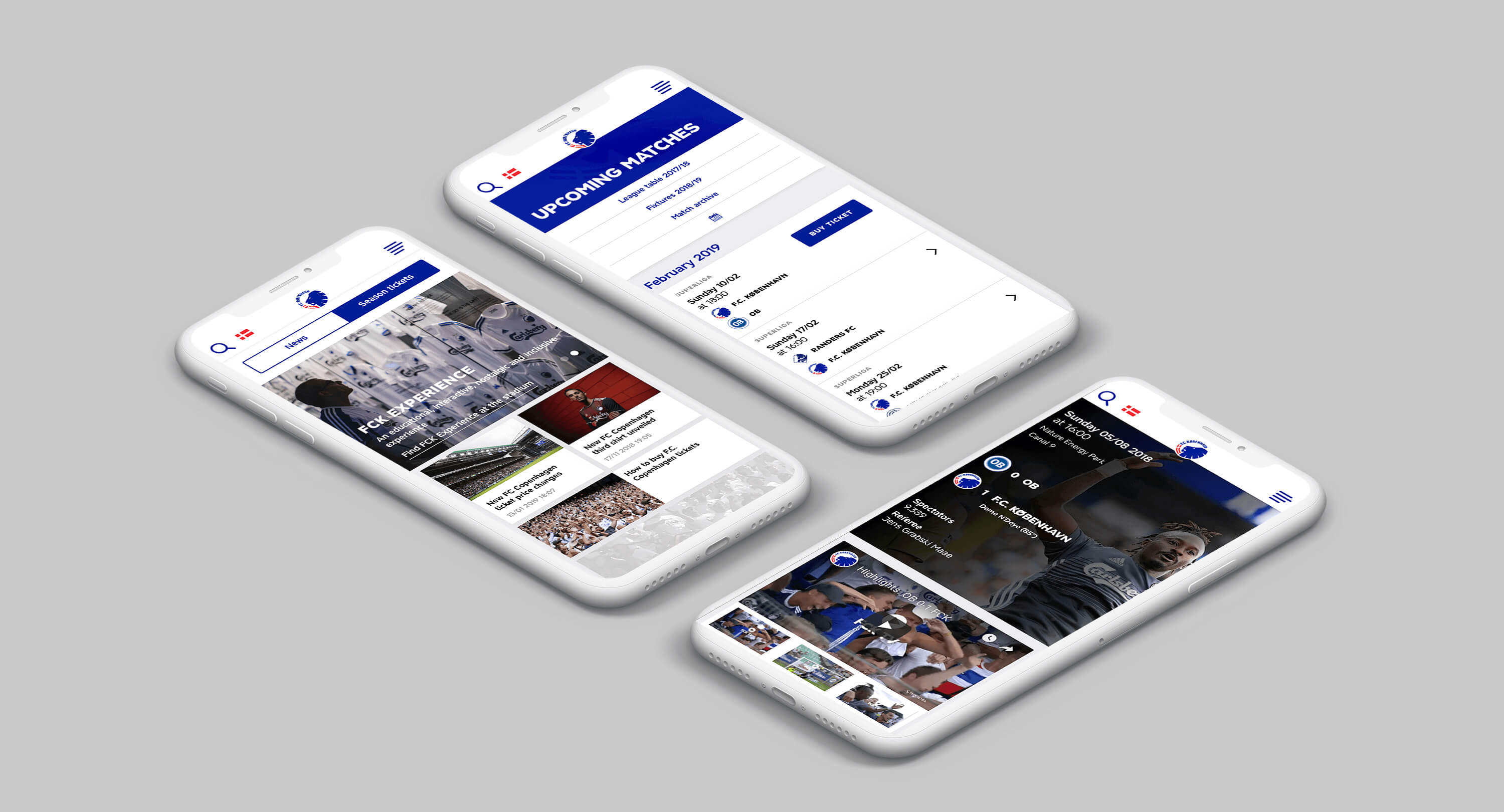 Image of F.C.Copenhagen mobile design