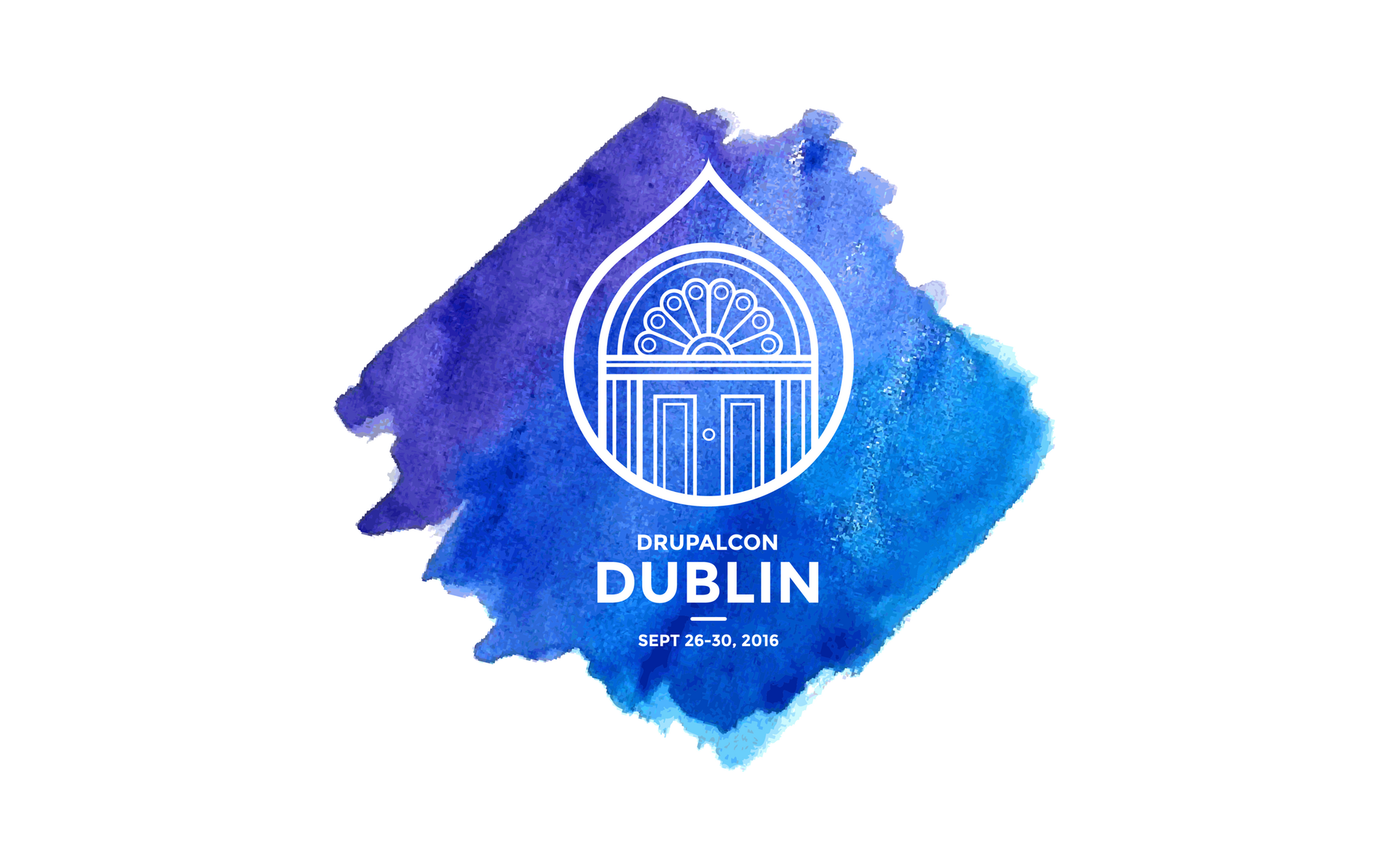 DrupalCon Dublin watercolor logo